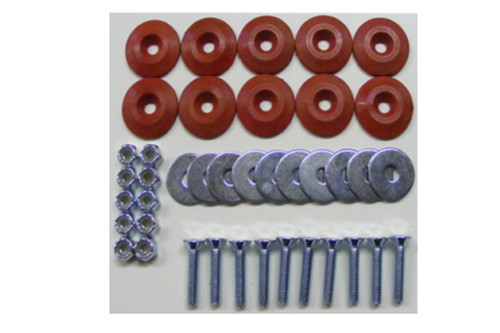 Dominator Racing Products 1200-RD Body Bolt Kit Red 10 Pack