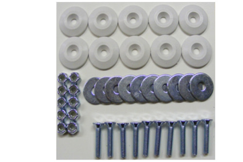 Dominator Racing Products 1200-WH Body Bolt Kit White 10 Pack