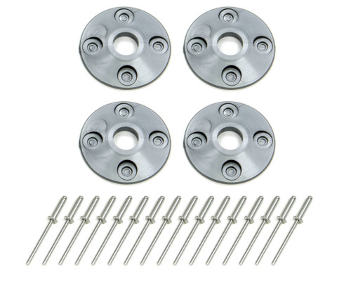 Dominator Racing Products 1202-SIL Scuff Plate Plastic 4pk Silver