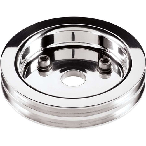 Billet Specialties 81220 Polished SBC 2 Groove Lower Pulley