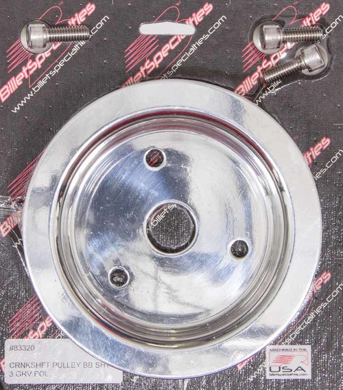 Billet Specialties 83320 Polished BBC 3 Groove Lower Pulley