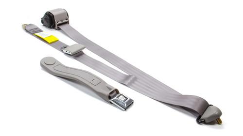 Beams Seatbelts 256P-65 3 Pt Retractable Seat Belt Grey Bucket Seat