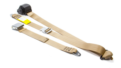 Beams Seatbelts 300-30 3 Pt Retractable Seat Belt Tan Bench Seat