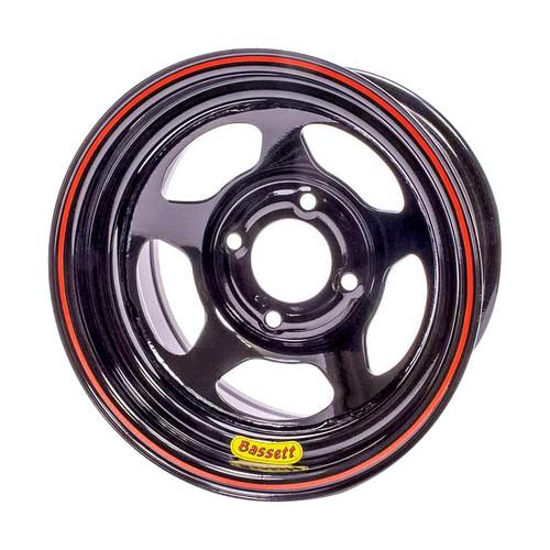 Bassett 37SN3 13x7 5x100mm 3in BS Inertia D-Hole Black