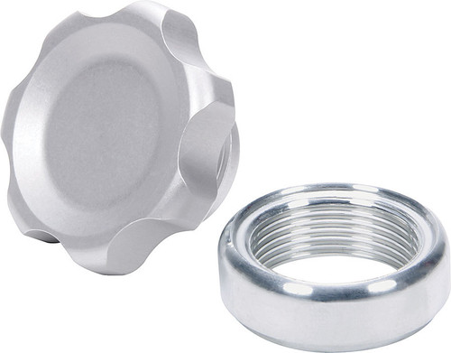 Allstar Performance 36160 Filler Cap Silver with Weld-In Alum Bung Small
