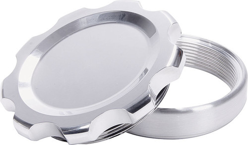 Allstar Performance 36177 Filler Cap Polished with Weld-In Steel Bung Large