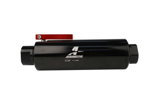 Aeromotive 12332 Fuel Filter w/Shut-Off -12an
