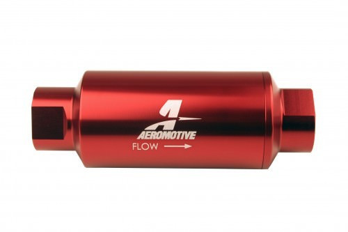 Aeromotive 12340 #10-ORB Fuel Filter Inline 10 Mircon Red