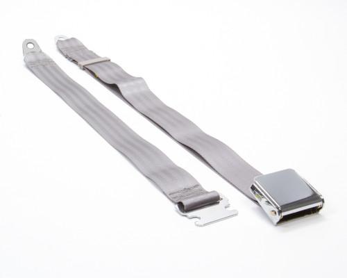 Beams Seatbelts 1800-7465 2 Pt Seat Belt Airplane Style Grey