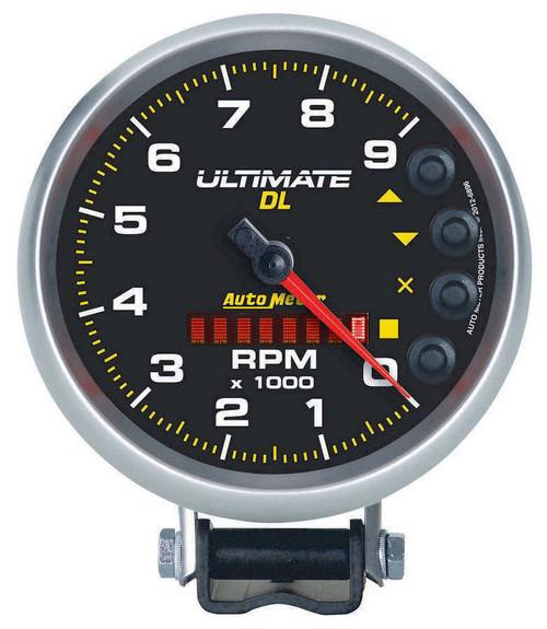 Autometer 6896 5in Ultimate DL Tach 9000 RPM Black