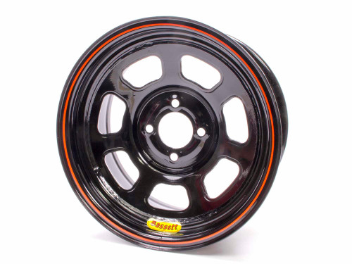 Bassett 47SH2 Wheel 14x7 D-Hole 4x100mm 2in Black