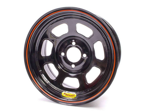 Bassett 47SH4 Wheel 14x7 D-Hole 4x100 4.0in BS Black