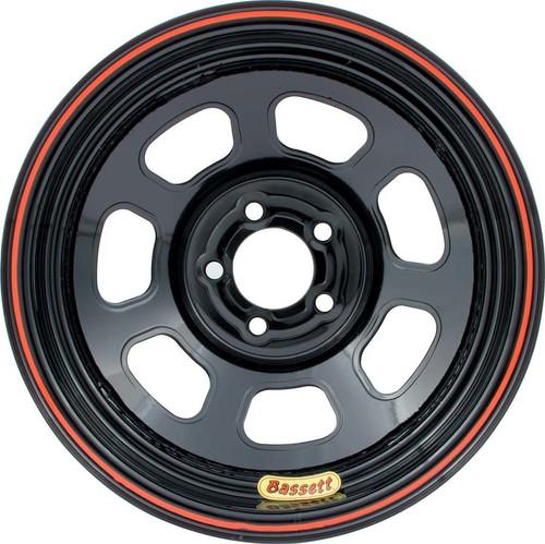Bassett 47SN2 Wheel 14x7 D-Hole 5x100mm 2in BS Black