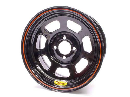 Bassett 47SP4 Wheel 14x7 D-Hole 4x4.25 in 4in bs Black