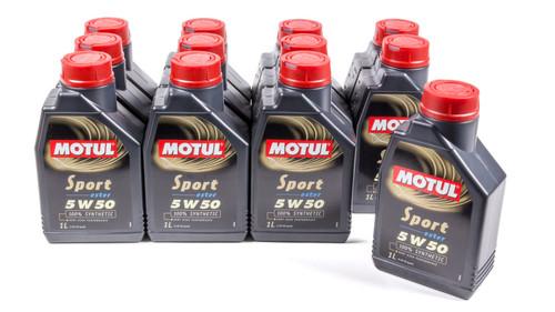 Motul Usa 103048-12 Sport 5w50 Case 12X1 Liter