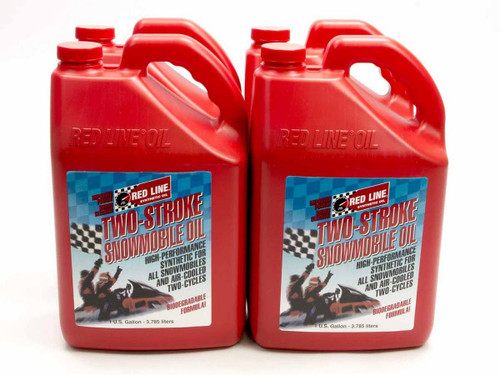Redline Oil 41025 2-Stroke Snowmobile Oil Case/4-Gal