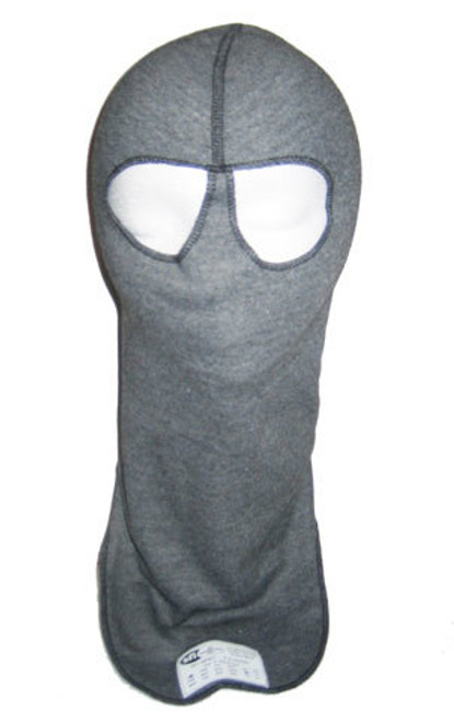 Pxp Racewear 2422 Head Sock Grey Dual Eyeport 2 Layer