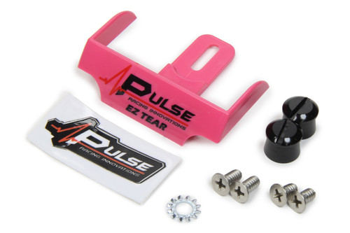 Pulse Racing Innovations EZTB102PNK EZ Tear Pink w/ Black Tear Off Post