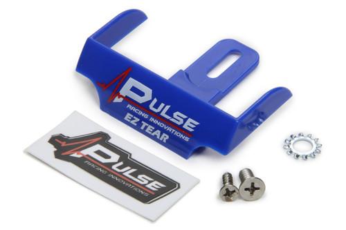 Pulse Racing Innovations EZTS101BL EZ Tear Shield Mounted Blue