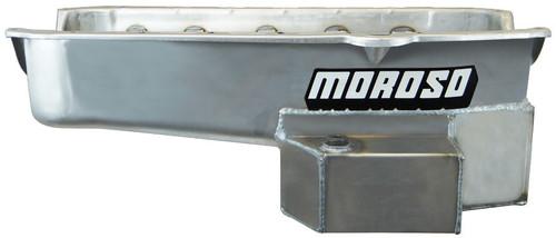 Moroso 21815 SBC RR 7qt Oil Pan w/RH Dipstick 86-Up