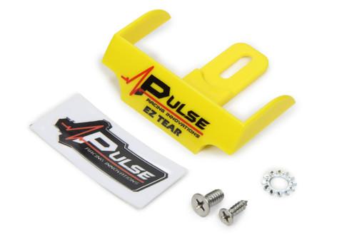 Pulse Racing Innovations EZTS101YL EZ Tear Shield Mounted Yellow