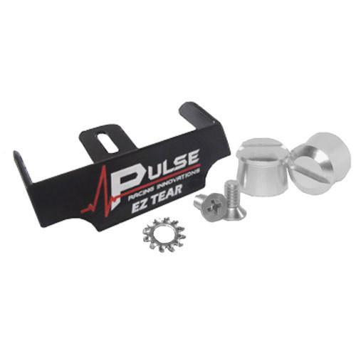 Pulse Racing Innovations EZTS102BKP EZ Tear Black w/ Silver Tear Off Post