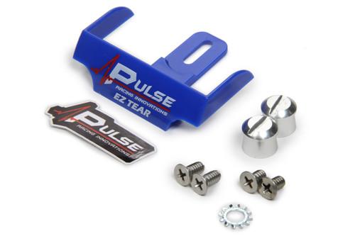 Pulse Racing Innovations EZTS102BLP EZ Tear Blue w/ Silver Tear Off Post