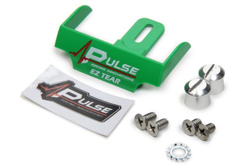 Pulse Racing Innovations EZTS102GRP EZ Tear Green w/ Silver Tear Off Post