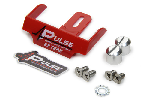 Pulse Racing Innovations EZTS102RP EZ Tear Red w/ Silver Tear Off Post