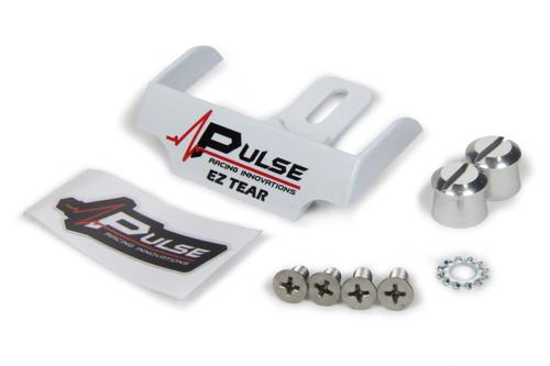 Pulse Racing Innovations EZTS102WP EZ Tear White w/ Silver Tear Off Post