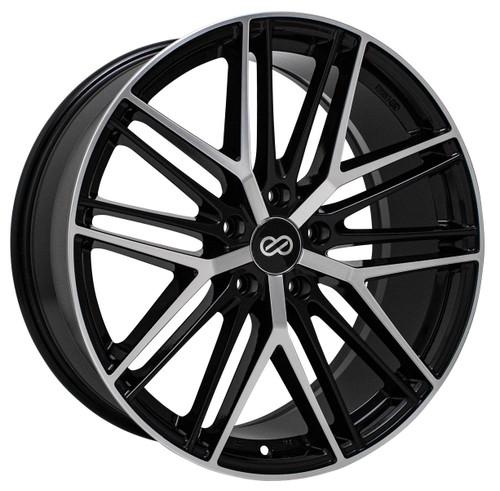 Enkei 518-880-3140BKM Phantom Black Machined Performance Wheel 18x8 5x108 40mm Offset 72.6mm Bore