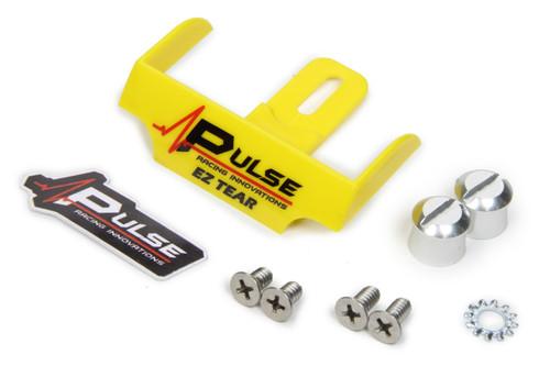 Pulse Racing Innovations EZTS102YLP EZ Tear Yellow w/ Silver Tear Off Post