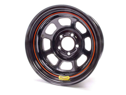 Bassett 57R53 15x7 5x5 Black Rolled