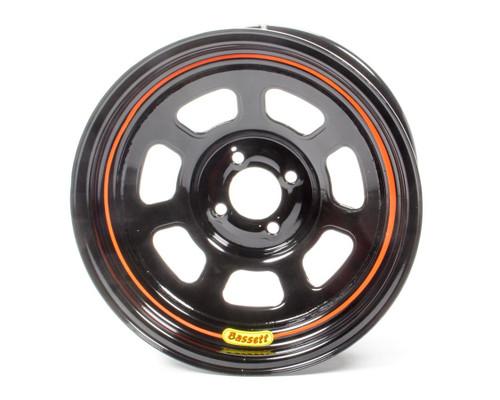 Bassett 57SH4 Wheel 15x7 4x100mm D- Hole 4in BS Black