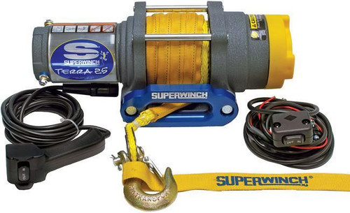 Superwinch 1125230 Terra25SR 2500 Lb Winch Synthetic Rope