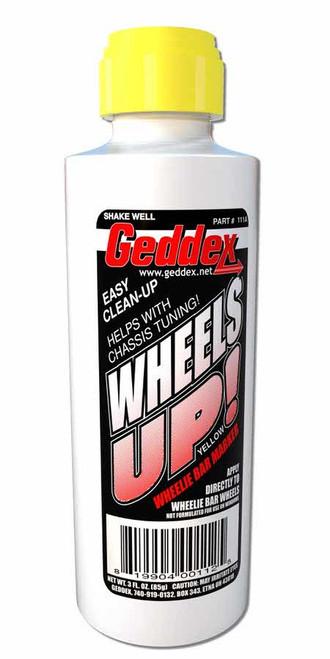 Geddex 111A Wheels Up Wheelie Bar Marker Yellow 3oz Bottle