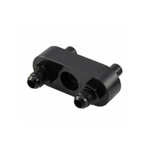 Bowler Performance Transmissions 6L80CMA-01 GM 6L80E Cooler Manifold Set Converts To -6 Black