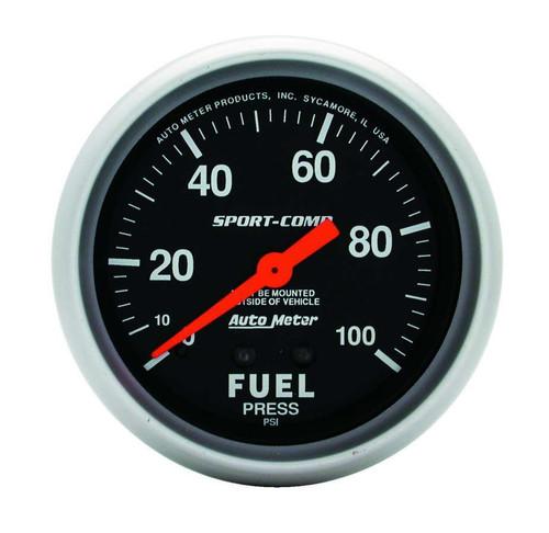 Autometer 3412 0-100 Fuel Press Gauge