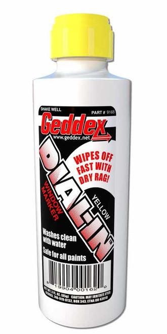 Geddex 916B Dial-In Window Marker Yellow 3oz Bottle