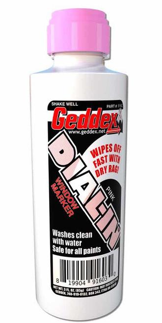 Geddex 916C Dial-In Window Marker Pink 3oz Bottle