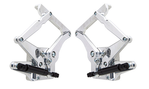 Ring Brothers 50656-1011NS 65-66 Mustang Hood Hinge Kit Solid Arm Natrl Stl