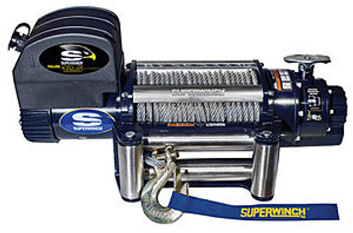 Superwinch 1612200 12500# Winch w/Roller Fairlead & 15ft HH Remot