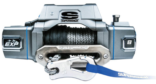 Superwinch S102734 EXP8SI 8000 Lb Winch Syn thetic Rope Hawse