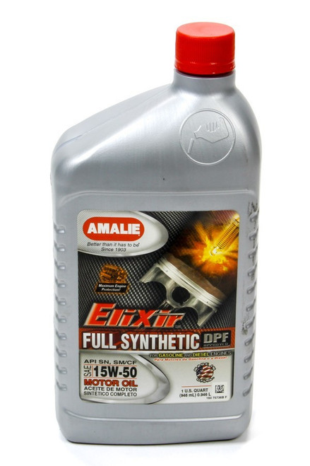 Amalie 75736-56 Elixir Full Synthetic 15w50 Oil 1Qt