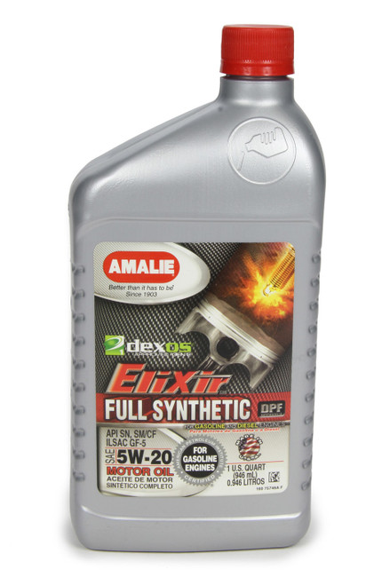 Amalie 75746-56 Elixir Full Synthetic 5w20 Dexos1 1 Qt