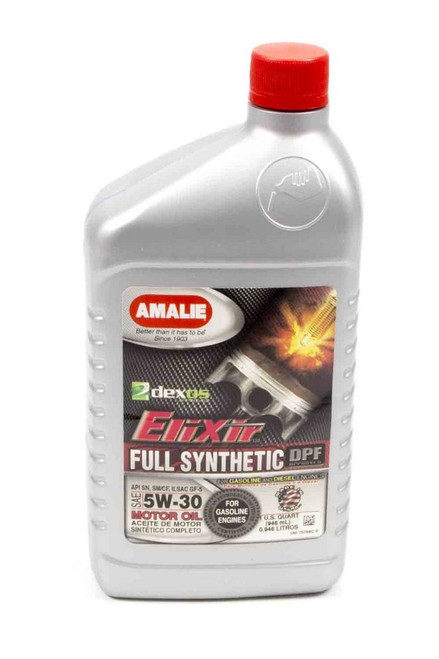 Amalie 75766-56 Elixir Full Synthetic 5w30 Oil 1Qt