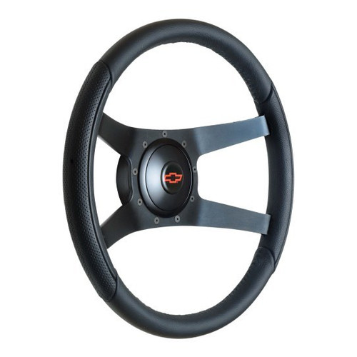 Gt Performance 52-5375 Steering Wheel Pro-Tour ing Leather Black Spokes