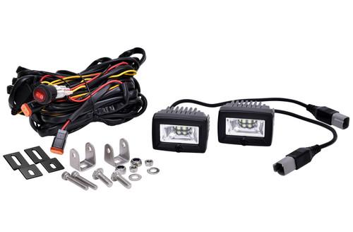 Kc Hilites 519 C2 LED 2in Backup Area Flood Light Sys 20w (pr)
