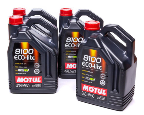 Motul Usa 108214-4 8100 Eco-Lite 5W30 Case 4 x 5 Liter