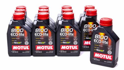 Motul Usa 108534-12 8100 0w20 Eco-Lite Oil Case 12 x 1 Liter